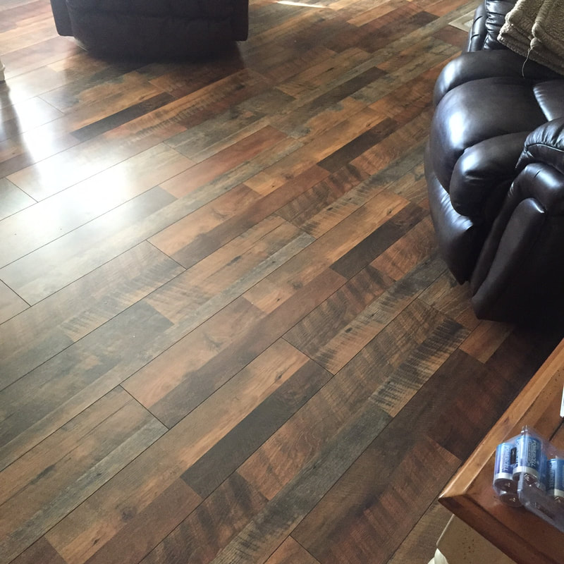 Rustic Laminate Flooring New Installation