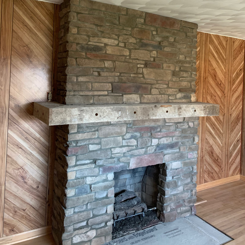 fireplace construction project